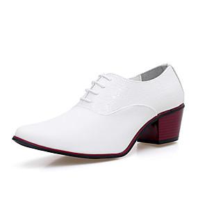 povoljno Muške dizajnerske oksfordice-Muškarci Cipele za noviteti Mikrovlakana Jesen Udobne cipele Oksfordice Obala / Crn / Zabava i večer