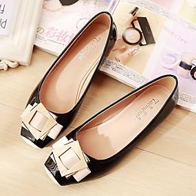 povoljno Ženske ravne cipele-Žene Ravne cipele Ravna potpetica Trg Toe Svinjska koža Udobne cipele Proljeće / Jesen Plava / Pink / Badem / EU41