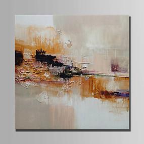 levne Abstraktní malby-Hang-malované olejomalba Ručně malované - Abstraktní Abstraktní Obsahovat vnitřní rám / Reprodukce plátna