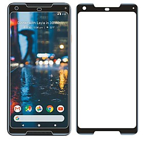 abordables Protectores de pantalla para celular-Protector de pantalla para Google Pixel 2 XL Vidrio Templado 1 pieza Protector de Pantalla Frontal Dureza 9H / Anti-Arañazos / Borde Curvado 3D