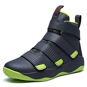 baratos Sapatos Esportivos Masculinos-Homens Sapatos Confortáveis Couro Ecológico Outono / Inverno Tênis Basquete Branco / Preto / Preto / Vermelho / Preto / verde / Atlético