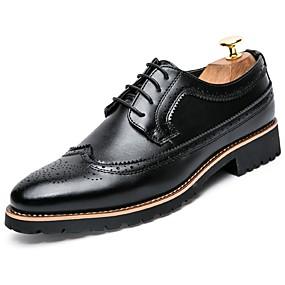 abordables Oxfords pour Homme-Homme Chaussures de confort Cuir Automne Business Oxfords Noir / Marron / De plein air