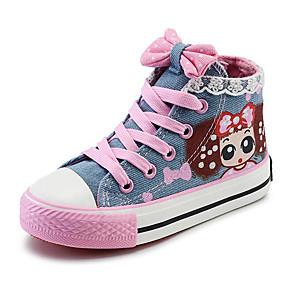 billige Børnesko-Pige Kanvas Sneakers Små børn (4-7 år) / Store børn (7 år +) Komfort Mørkeblå / Lyseblå Forår / EU37