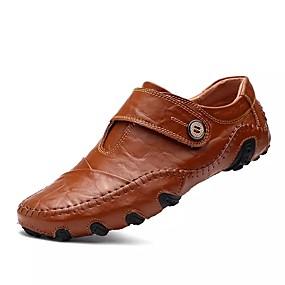 voordelige Wijdere maten schoenen-Heren Nieuwigheidsschoenen Suède Lente / Zomer / Herfst Informeel Oxfords Zwart / Bruin / Veters / Toimisto & ura