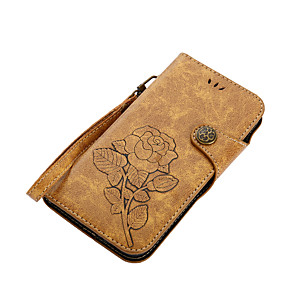 levne Pouzdra telefonu-Carcasă Pro Motorola G5 Plus / E4 Plus Peněženka / Pouzdro na karty / se stojánkem Celý kryt Květiny Pevné PU kůže pro Moto G5 Plus / Moto G5 / MOTO G4