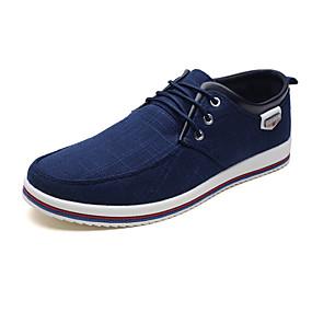 baratos Tênis Masculino-Homens Sapatos Confortáveis Lona / Tecido Primavera / Outono Tênis Preto / Azul / Cinzento