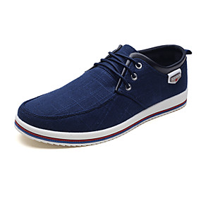 billige Herresneakers-Herre Kanvas / Stof Forår / Efterår Komfort Sneakers Sort / Grå / Blå