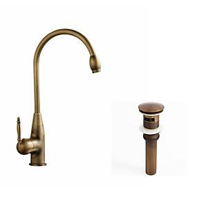 Kitchen Faucet Single Handle One Hole Antique Copper Centerset