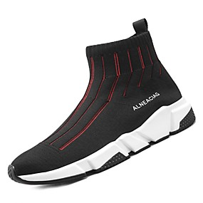 cheap Men's Athletic Shoes-Shoes Tulle Spring Fall Comfort Athletic Shoes for Athletic Black Black/Red