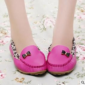 voordelige Damesschoenen met platte hak-Dames Platte schoenen Platte hak Gesloten teen  PU Comfortabel Lente / Herfst Geel / Fuchsia / Blauw