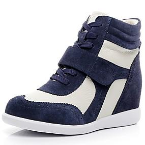 Χαμηλού Κόστους Γυναικεία Αθλητικά-Γυναικεία Αθλητικά Παπούτσια Τακούνι Σφήνα Στρογγυλή Μύτη Δερμάτινο Ανατομικό / Μοντέρνες μπότες Φθινόπωρο / Χειμώνας Καφέ / Ροζ και Άσπρο / Άσπρο / Μπλε / Συνδυασμός Χρωμάτων / EU40