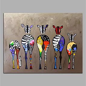 povoljno Life VC-ručno oslikano platno životinjskog ulja na platnu šarene zebre suvremene umjetnosti bez okvira