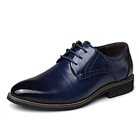 voordelige Wijdere maten schoenen-Heren Formele Schoenen Leer Lente / Herfst Oxfords Zwart / Geel / Blauw / Feesten & Uitgaan / Combinatie / Feesten & Uitgaan / EU40