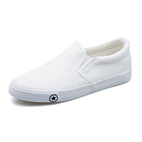 a9763dd2242 Mujer Tela Primavera   Otoño Confort Zapatos de taco bajo y Slip-On Tacón  Bajo Blanco   Negro