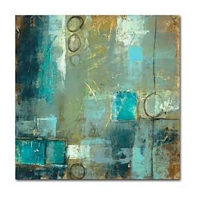 levne Abstraktní malby-Hang-malované olejomalba Ručně malované - Abstraktní Současný styl Moderní Obsahovat vnitřní rám / Reprodukce plátna