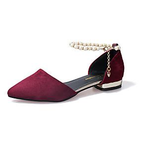 12e7d28f014d7 Women's Chunky Heel Pointed Toe PU(Polyurethane) Spring / Summer Comfort /  Basic Pump Sandals Imitation Pearl Black / Gray / Wine / Party & Evening /  EU37