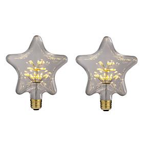 billige Globepærer med LED-brelong 2 stk 3w e27 30led star decoration globe pærer ac220 gul