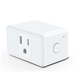 """povoljno Utičnice-Smart Plug Vremenska funkcija / Ne-Hub potreban / Kompatibilni uređaj 1pack PC / ABS Utičnica WiFi-omogućen / APP / Glasovna kontrola radi s Googleovim pomoćnikom / radi s """"Amazonom Alexa Echoom"""