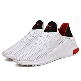 pretty nice b54c1 d8a63 Men s Faux Leather Spring   Fall Comfort Athletic Shoes Running Shoes   Walking  Shoes White   Black   Gray