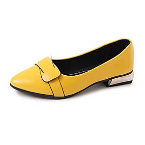 6e0a23b2 Dame PU Vår Komfort Flate sko Gange Lav hæl Spisstå Appliqué Grå / Gul / Rød
