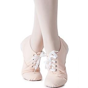 billige Jazz-sko-Jente Jazz-sko Lerret Joggesko Flat hæl Kan spesialtilpasses Dansesko Mandel / Innendørs / Trening