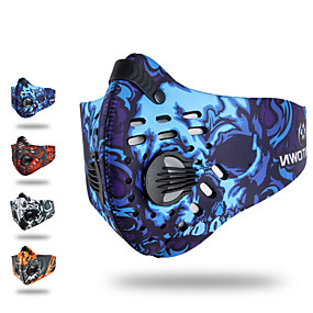 cheap Balaclavas & Face Masks-XINTOWN Sports Mask Pollution Protection Mask Windproof Breathable Dust Proof Limits Bacteria Bike / Cycling Red Blue Grey Winter for Men's Women's Adults' Cycling / Bike Everyday Use Painting 1pc