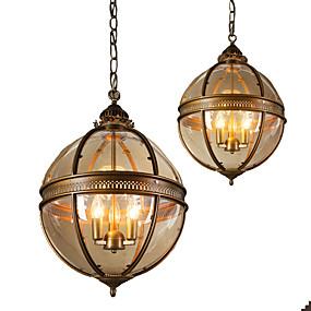 abordables Plafonniers-Ecolight™ 3 lumières Globe Lampe suspendue Lumière d'ambiance Anodisation Métal Verre 110-120V / 220-240V Ampoule non incluse