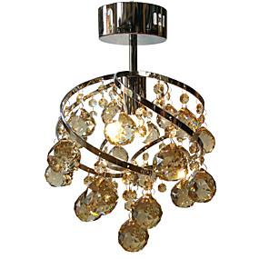 povoljno Poboljšanje uvjeta stanovanja-LightMyself™ Flush Mount Ambient Light Chrome Crystal Crystal, LED 110-120V / 220-240V Meleg fehér / Hladno bijela Bulb Included / E26 / E27