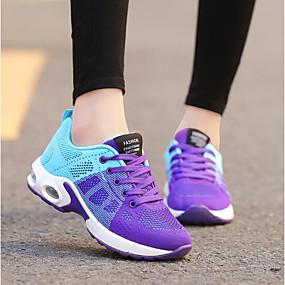 voordelige Damessneakers-Dames Sneakers Creepers Ademend Gaas Comfortabel Lente / Herfst Paars / Roze / Zwart / Rood / EU39