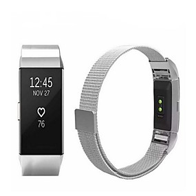 cheap Smartwatch Accessories-Watch Band for Fitbit Charge 2 Fitbit Sport Band / Milanese Loop Stainless Steel Wrist Strap