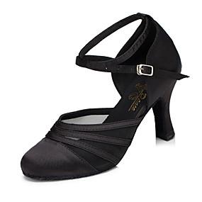 billige Moderne sko-Dame Moderne sko Syntetisk Høye hæler Kubansk hæl Dansesko Svart / Lilla / Trening