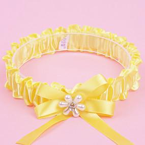 billige Strømpebånd til bryllup-Polyester Moderne / Bryllup Bryllupsklær Med Rhinsten / Sløyfe / Imiterte Perler Strømpebånd Bryllup / Fest & Aften