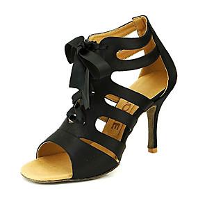 abordables Chaussures de Danse-Femme Chaussures de danse Satin Salon / Chaussures de Salsa Boucle Sandale Personnalisables Jaune / Fuchsia / Violet / EU42
