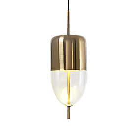 billige Hengelamper-LightMyself™ Mini Anheng Lys Nedlys Gylden Malte Finishes Metall Justerbar 110-120V / 220-240V Pære Inkludert / Integrert LED