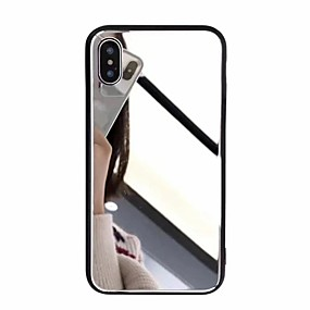 ราคาถูก ข้อเสนอประจำสัปดาห์-Case สำหรับ Apple iPhone X / iPhone 8 Plus Mirror ปกหลัง สีพื้น Hard อะคริลิค สำหรับ iPhone X / iPhone 8 Plus / iPhone 8