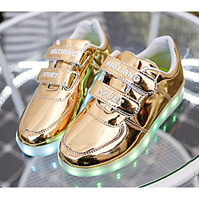 cheap LED Shoes-Boys' Shoes PU Spring & Summer Comfort / Light Up Shoes Sneakers for Gold / Silver