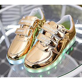 저렴한 Shoes Trends-남아 구두 PU 봄 여름 컴포트 / 야광 신발 운동화 용 골드 / 슬리버