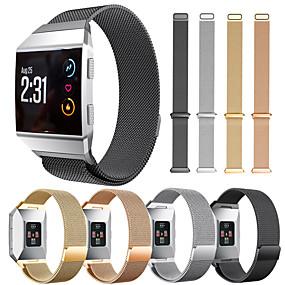billige Smartwatch Bands-Klokkerem til Fitbit ionic Fitbit Milanesisk rem Rustfritt stål Håndleddsrem