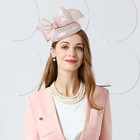 povoljno Kentucky Derby Hat-Lan Kentucky Derby Hat / Fascinators / kape s Perje / Cvjetni print 1pc Vjenčanje / Zabava / večer Glava