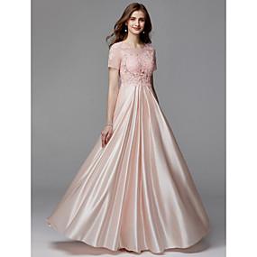 738e2f44cf9 Γραμμή Α Illusion Seckline Μακρύ Σαρμέζ / Δαντέλα χάντρες Κλειδαρότρυπα  Χοροεσπερίδα / Επίσημο Βραδινό Φόρεμα με Διακοσμητικά Επιράμματα με TS  Couture®