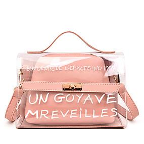 Női Táskák PVC   PU táska szettek 2 db erszényes készlet Gombok   Cipzár  Fekete   Arcpír rózsaszín   Sárga 700db5a4d9