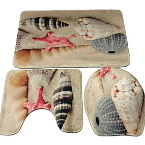 voordelige Matten & Tapijten-1pc Informeel Badtapijten Bamboe, Cotton Blend Geometrisch epäsäännöllinen Badkamer Non-Slip / Creatief