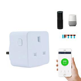 povoljno Utičnice-Utičnica Vremenska funkcija / Jednostavan za korištenje / Ne-Hub potreban 1pack ABS + PC / 750 ° C Utičnica WiFi-omogućen / APP / Glasovna kontrola Amazon Alexa Echo / Google pomoćnik