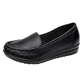b41bbd6a51a Women s Shoes Cowhide Spring   Summer Comfort Loafers   Slip-Ons Flat Heel  Black   Red