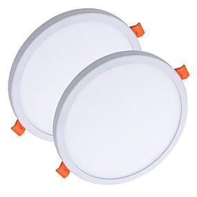 billige Innfelte LED-lys-ZDM® 2pcs 8 W 40 LED perler Lett installasjon Nedfellt Nytt Design Panellys Led-Nedlys Varm hvit Kjølig hvit 85-265 V Kommersiell Hjem / kontor / RoHs / CE / 90