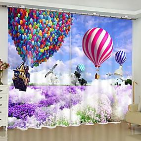 رخيصةأون الستائر-تعتيم ستائر ثلاثية الأبعاد 2 * (W110cmxL180cm) أرجواني / غرفة النوم