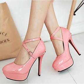 povoljno Cipele za maturu-Žene Cipele na petu Stiletto potpetica PU Udobne cipele Proljeće Obala / Crn / Pink / Dnevno / EU36