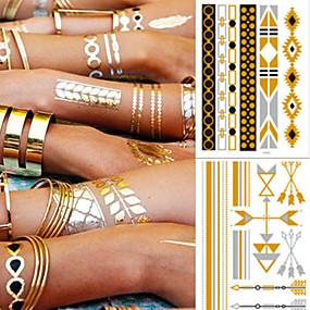 cheap Temporary Tattoos-5 pcs Temporary Tattoos Fashionable Design / Decoration brachium / Ankle Water-Transfer Sticker Tattoo Stickers