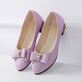 voordelige Damesschoenen met platte hak-Dames Platte schoenen Platte hak Ronde Teen Strik PU Comfortabel Zomer Zwart / Zilver / Paars