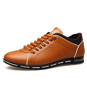 voordelige Wijdere maten schoenen-Heren Comfort schoenen Imitatieleer Herfst Sneakers Zwart / Geel / Rood / ulko-